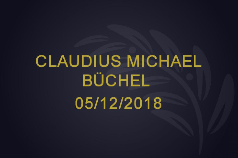 Claudius Michael Buchel – 05/12/2018