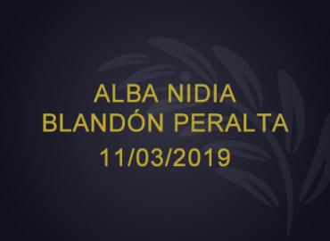 Alba Nidia Blandón Peralta – 11/03/2019