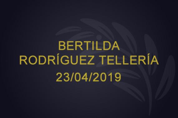 Bertilda Rodríguez Tellería – 23/04/2019