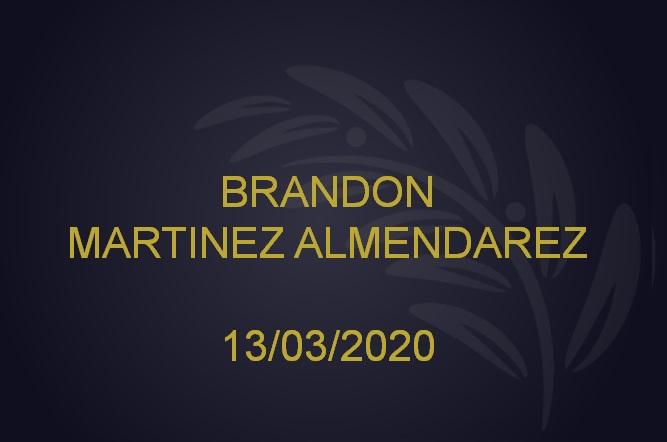 BRANDON MARTINEZ ALMENDAREZ – 13/03/2020