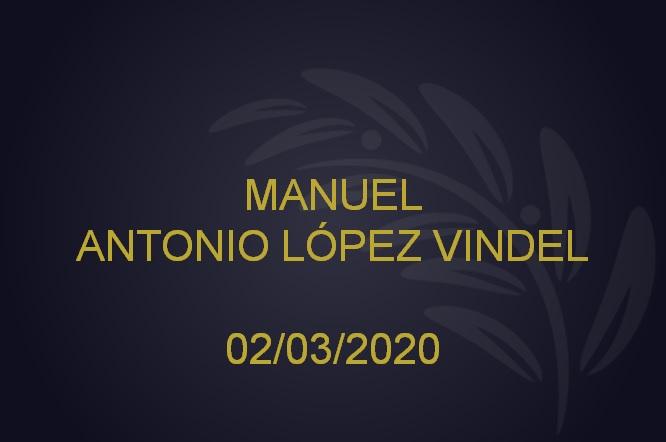 manuel antonio lópez vindel – 02/03/2020