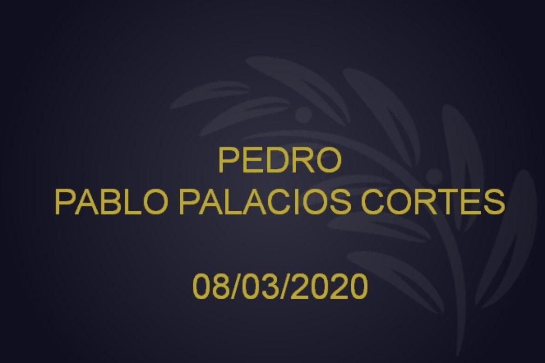 PEDRO PABLO PALACIOS CORTES – 08/03/2020